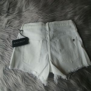 NWT Black Orchid White Hi Rise Cut off Shorts 27